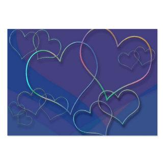 Diseñador colorido del amor de los amores de la tarjetas de visita grandes