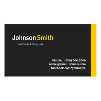 Diseñador de moda - ámbar minimalista moderno tarjetas de visita
