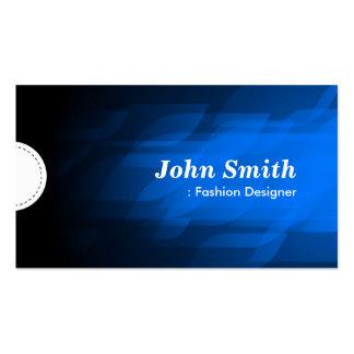 Diseñador de moda - azul marino moderno plantillas de tarjeta de negocio