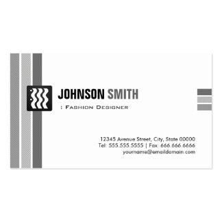 Diseñador de moda - blanco negro creativo tarjetas de visita