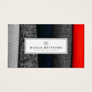 Diseñador de moda de las telas tarjeta de visita