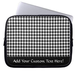 Diseñador de moda elegante negro/blanco de funda para portátil