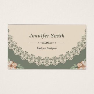 Diseñador de moda - moda del vintage floral tarjeta de negocios
