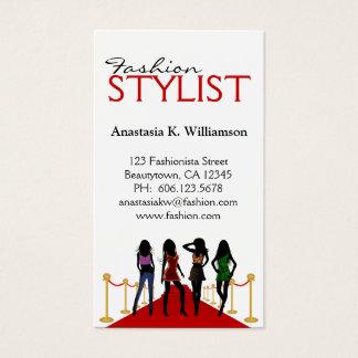 Diseñador de moda moderno elegante del estilista tarjeta de visita