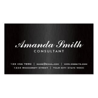 Diseñador de moda negro llano profesional elegante plantillas de tarjetas de visita