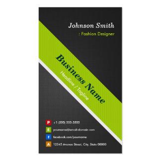 Diseñador de moda - negro y verde superiores tarjetas de visita