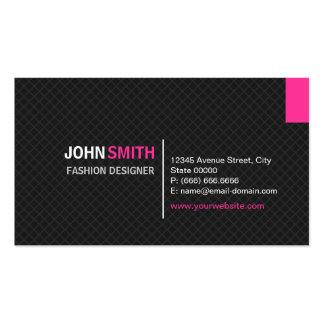 Diseñador de moda - rejilla moderna de la tela cru tarjetas de visita