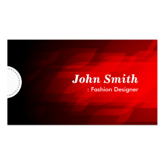 Diseñador de moda - rojo oscuro moderno tarjetas de visita