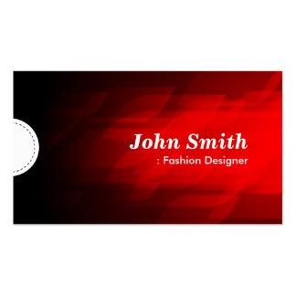 Diseñador de moda - rojo oscuro moderno tarjetas de negocios