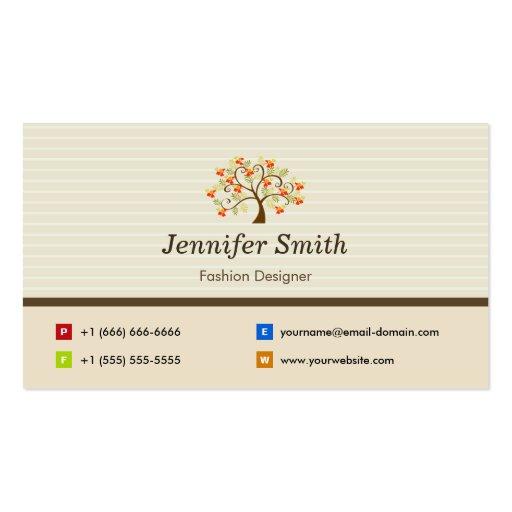 Diseñador de moda - símbolo elegante del árbol tarjetas de visita