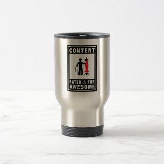 Diseñador de moda taza de viaje