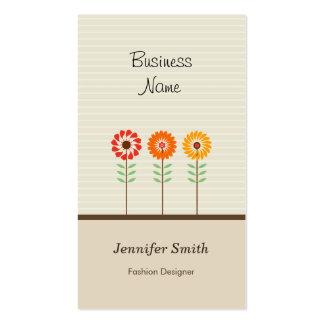 Diseñador de moda - tema floral lindo tarjetas de visita