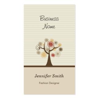 Diseñador de moda - tema natural elegante tarjetas de visita