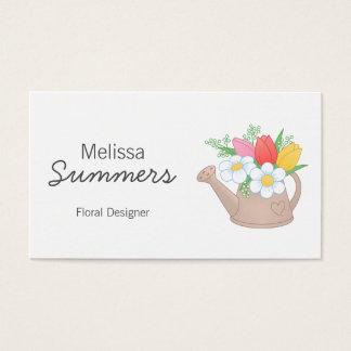 Diseñador del arreglo floral de la regadera tarjeta de visita