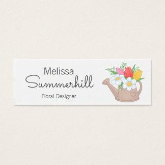 Diseñador del arreglo floral de la regadera tarjeta de visita mini