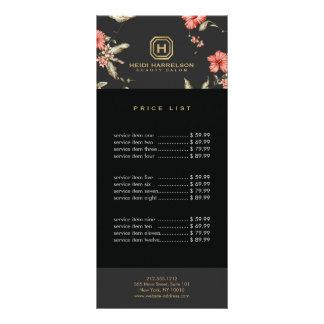 Diseñador floral de la caja del logotipo del tarjeta publicitaria