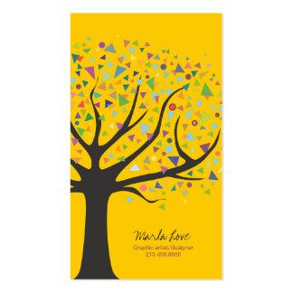 Diseñador gráfico del árbol de visita del arte enr tarjeta de visita