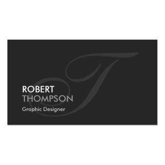 Diseñador gráfico - monograma chapoteante moderno tarjetas de visita