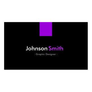 Diseñador gráfico - violeta púrpura moderna tarjetas de visita