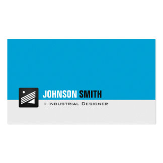 Diseñador industrial - aguamarina personal azul tarjetas de visita