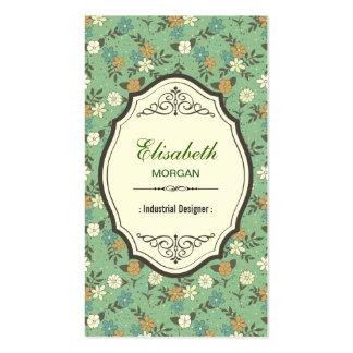 Diseñador industrial - vintage elegante floral tarjetas de visita