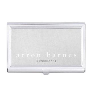 Diseñador minimalista moderno gris claro simple cajas de tarjetas de negocios