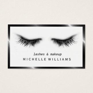 Diseñador negro y blanco elegante artsy de las tarjeta de visita