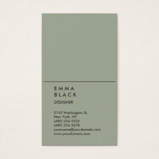Diseñador profesional elegante gris elegante tarjeta de negocios