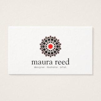 Diseñador subió acento rojo de la moda de la tarjeta de negocios