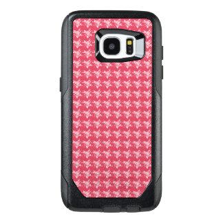 Diseñador-Tela-Coral-Rosa-Apple-Samsung-Fundas Funda OtterBox Para Samsung Galaxy S7 Edge