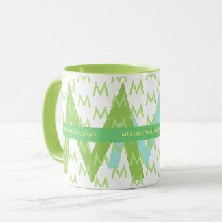 diseñe su propia taza con las iniciales conocidas