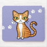 Diseñe su propio gato del dibujo animado alfombrilla de raton