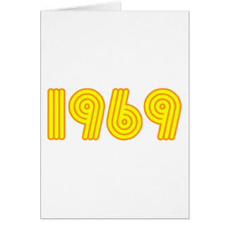 diseño 1969 (40.o cumpleaños) tarjeta de felicitación