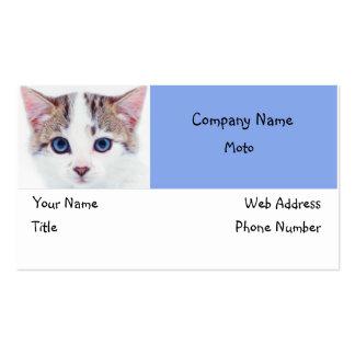 Diseño 1 de la tarjeta de visita de los ojos azule