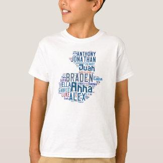 Diseño 1 de los niños camiseta