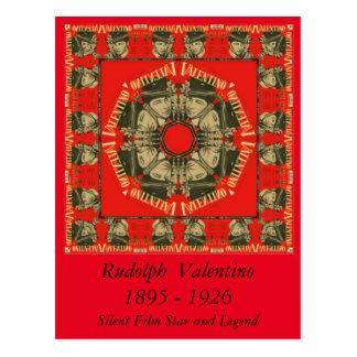 Diseño 2 de Rudolph Valentino Postal