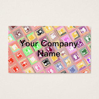 Diseño a cuadros colorido tarjeta de negocios