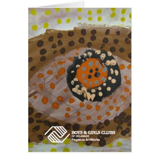 Diseño aborigen por la mayor juventud de Newark Tarjetón