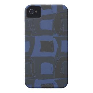 Diseño abstracto azul del arándano Case-Mate iPhone 4 protectores