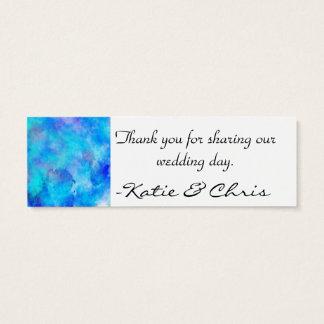 Diseño abstracto azul helado tarjeta de visita pequeña