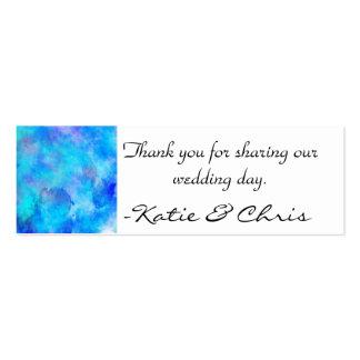 Diseño abstracto azul helado tarjeta personal