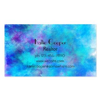 Diseño abstracto azul helado tarjetas de visita