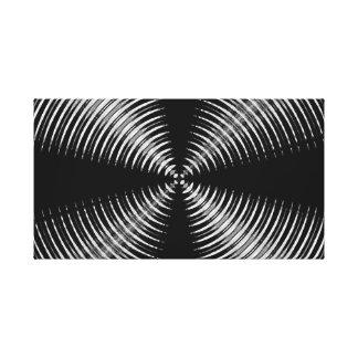 Diseño abstracto blanco y negro lienzo