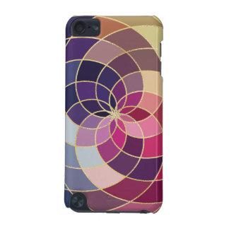 Diseño abstracto colorido asombroso carcasa para iPod touch 5