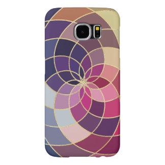Diseño abstracto colorido asombroso funda samsung galaxy s6