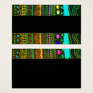 diseño abstracto colorido de la plantilla de la tarjeta de negocios