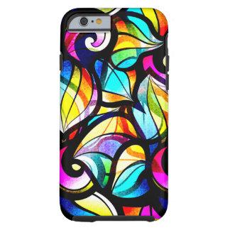 Diseño abstracto colorido del vitral funda de iPhone 6 tough
