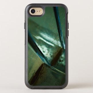 diseño abstracto de acero metálico de la reflexión funda OtterBox symmetry para iPhone 8/7