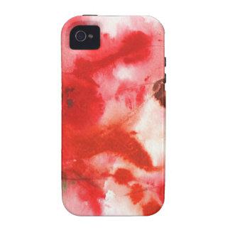 Diseño abstracto de la pintura original iPhone 4 funda