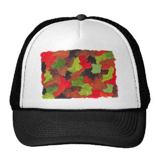 Diseño abstracto de la pintura original gorro de camionero